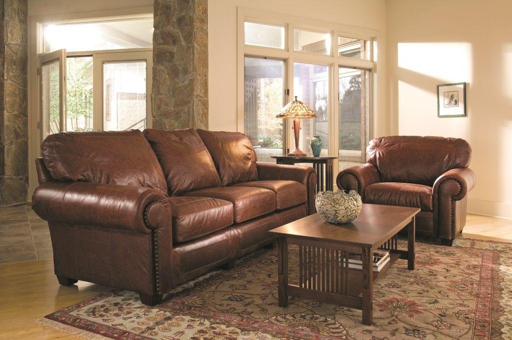 Stickley Santa Fe Sofa Living Room Leather Living Room