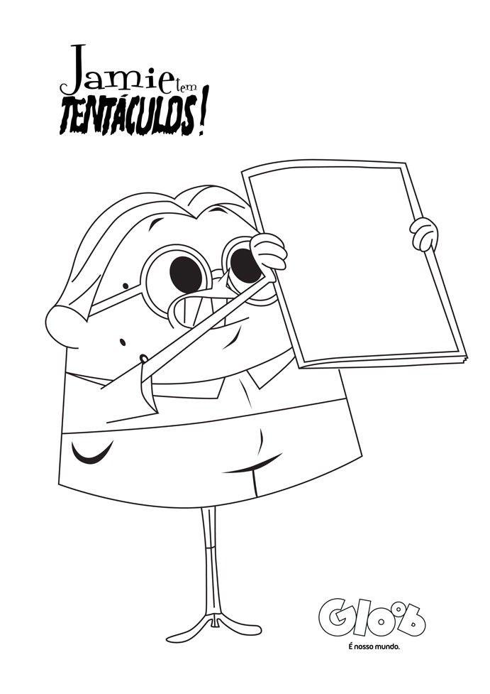 Para colorir: Jaime Tem Tentáculos - Jamie Tem Tentáculos ...