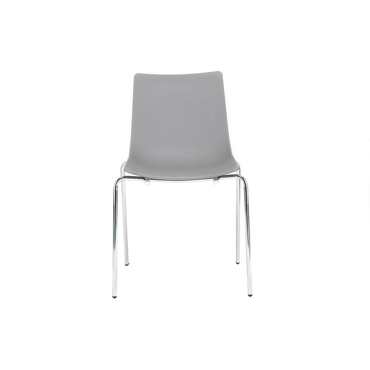 Chaises Design Blanches Empilables Avec Pieds En Metal Lot De 2 Celebration Chaise Design Design Et Chaises Bois