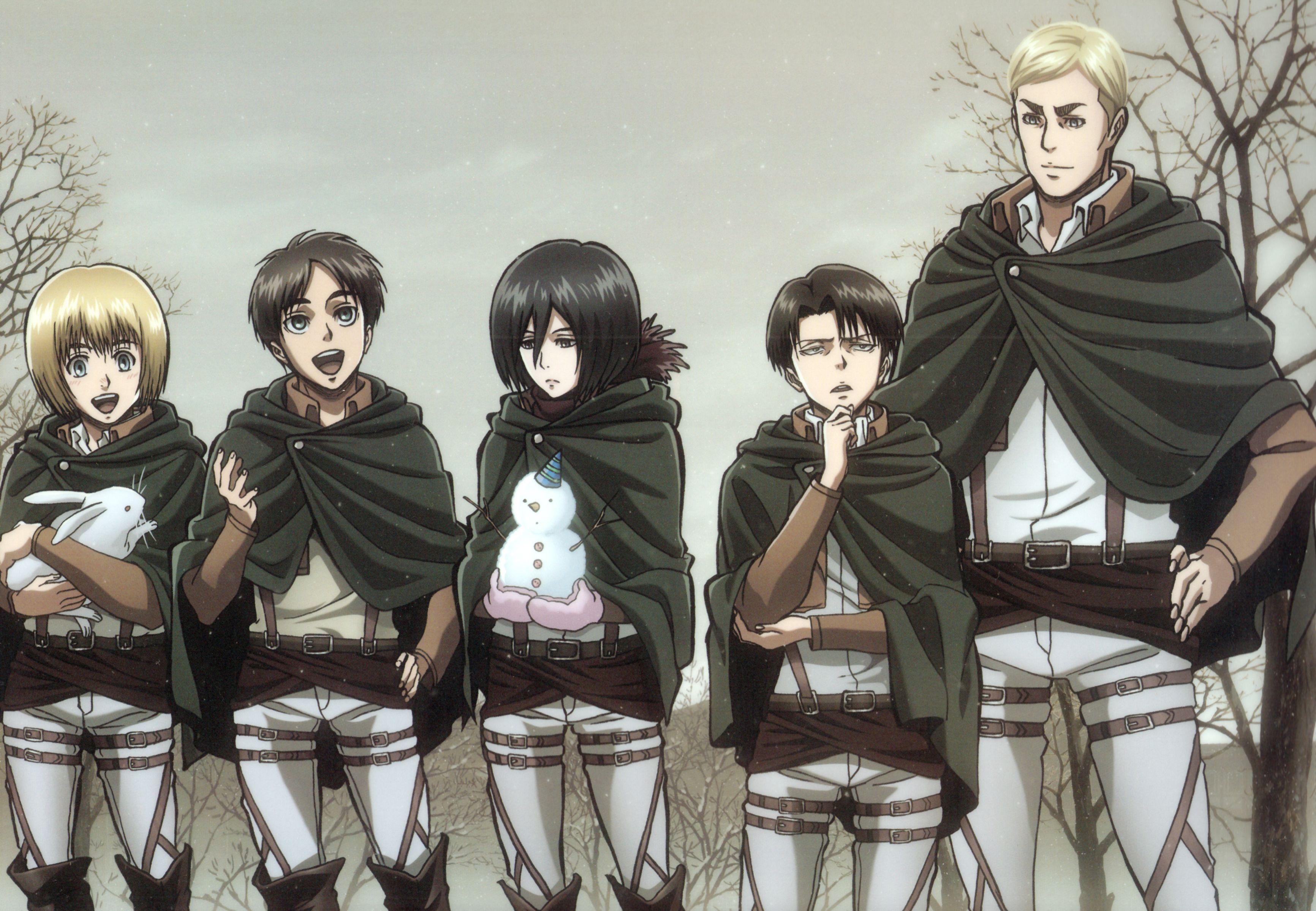 Shingeki no Kyojin, Armin Arlert, Eren Jaeger, Levi