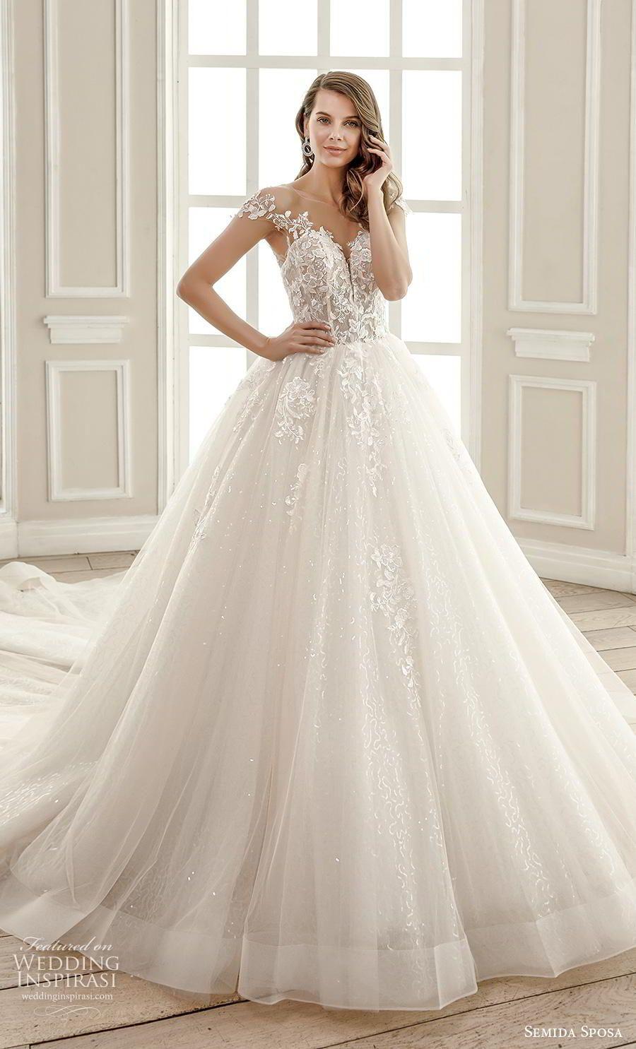 Semida Sposa 2020 Wedding Dresses Amazon Bridal Collection Wedding Dresses Wedding Dresses Lace Royal Wedding Dress