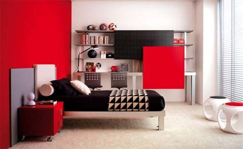 Idea: Really digging the one wall painted red for the spare bedroom. & Idea: Really digging the one wall painted red for the spare bedroom ...