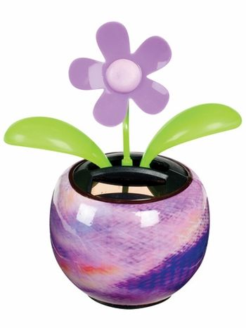 This Solar Dancing Flower Sways Back And Forth And Its Leaves Move Up And Down Cute For Any Desktop Solar Powered Toys Dancing Toys Solar