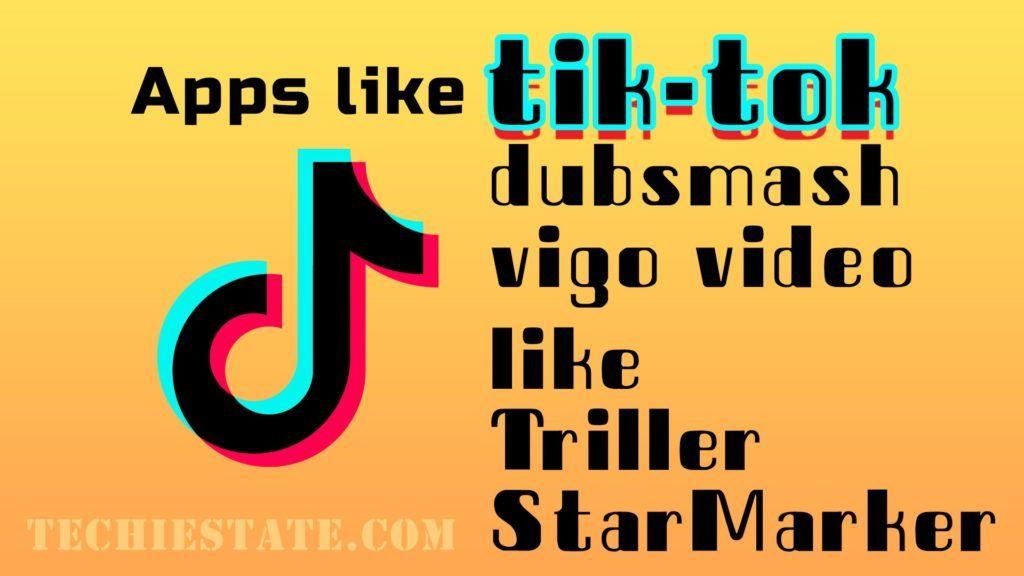 Best Five Apps Like Tiktok Social Networking Apps Triller App App