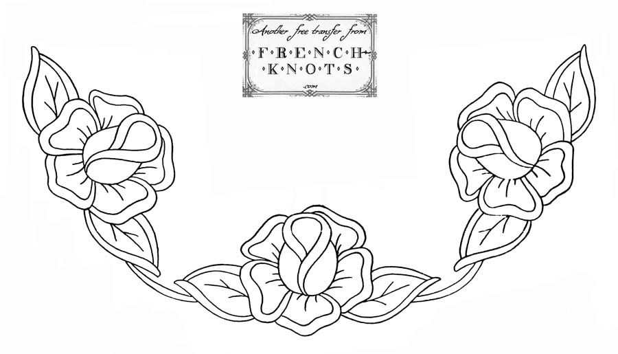 French Knot Needlework Posted In Embroidery Transfers Flowers