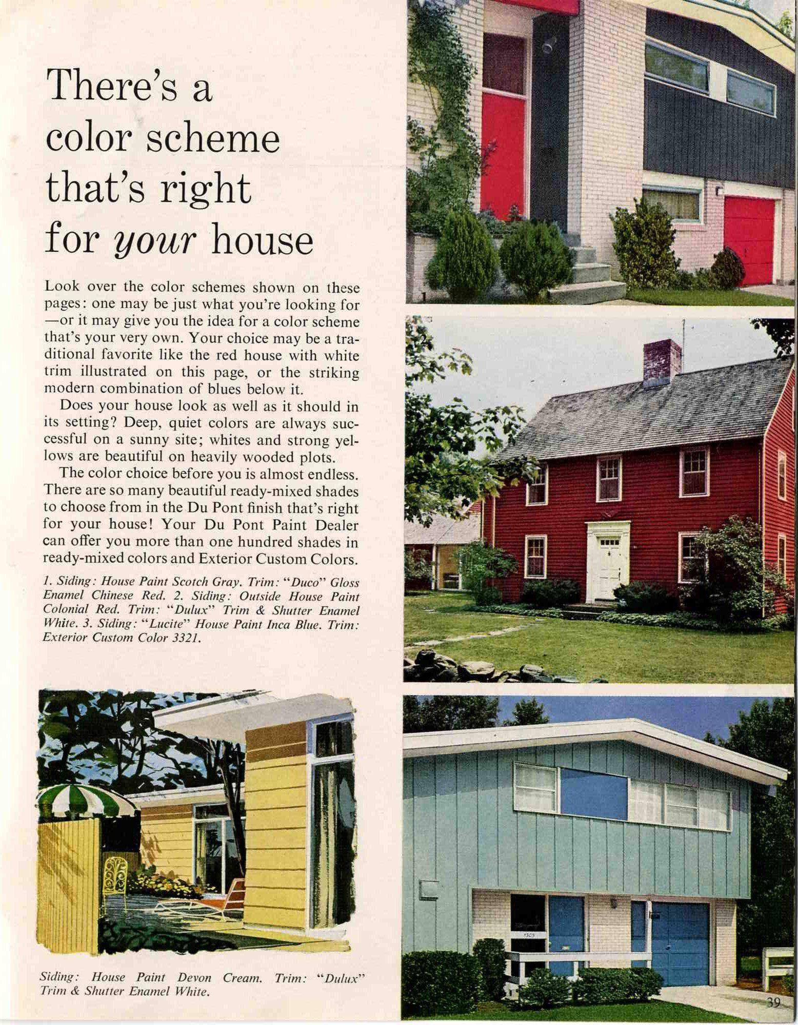 45+ 1960s exterior house paint colors information