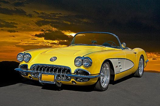 Dave Koontz 1959 Corvette Yellow Roadster Corvette Volkswagen