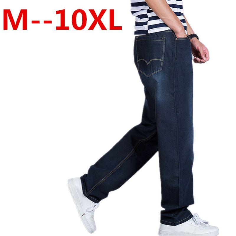 >> Click to Buy << plus size 10XL 9XL 8XL 6XL 5XL Men Brand Jeans Fashion Casual Male Denim Pants Trousers Cotton Classic Straight Jeans Masculina #Affiliate