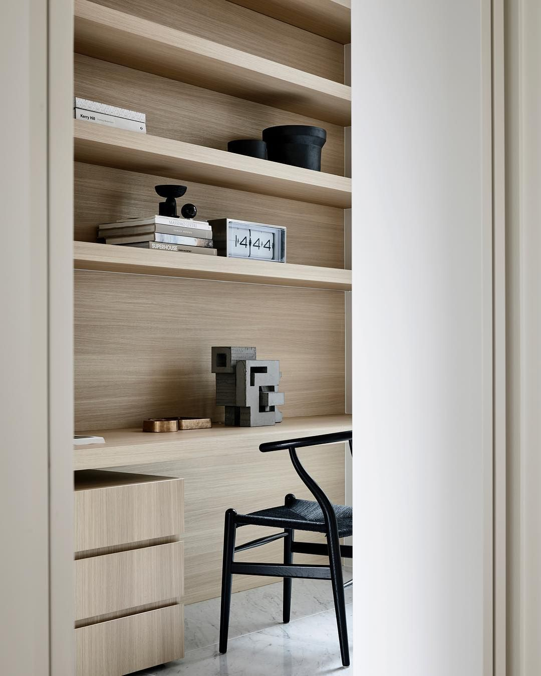 Minimalist Office + Bookshelf Styling Inspiration