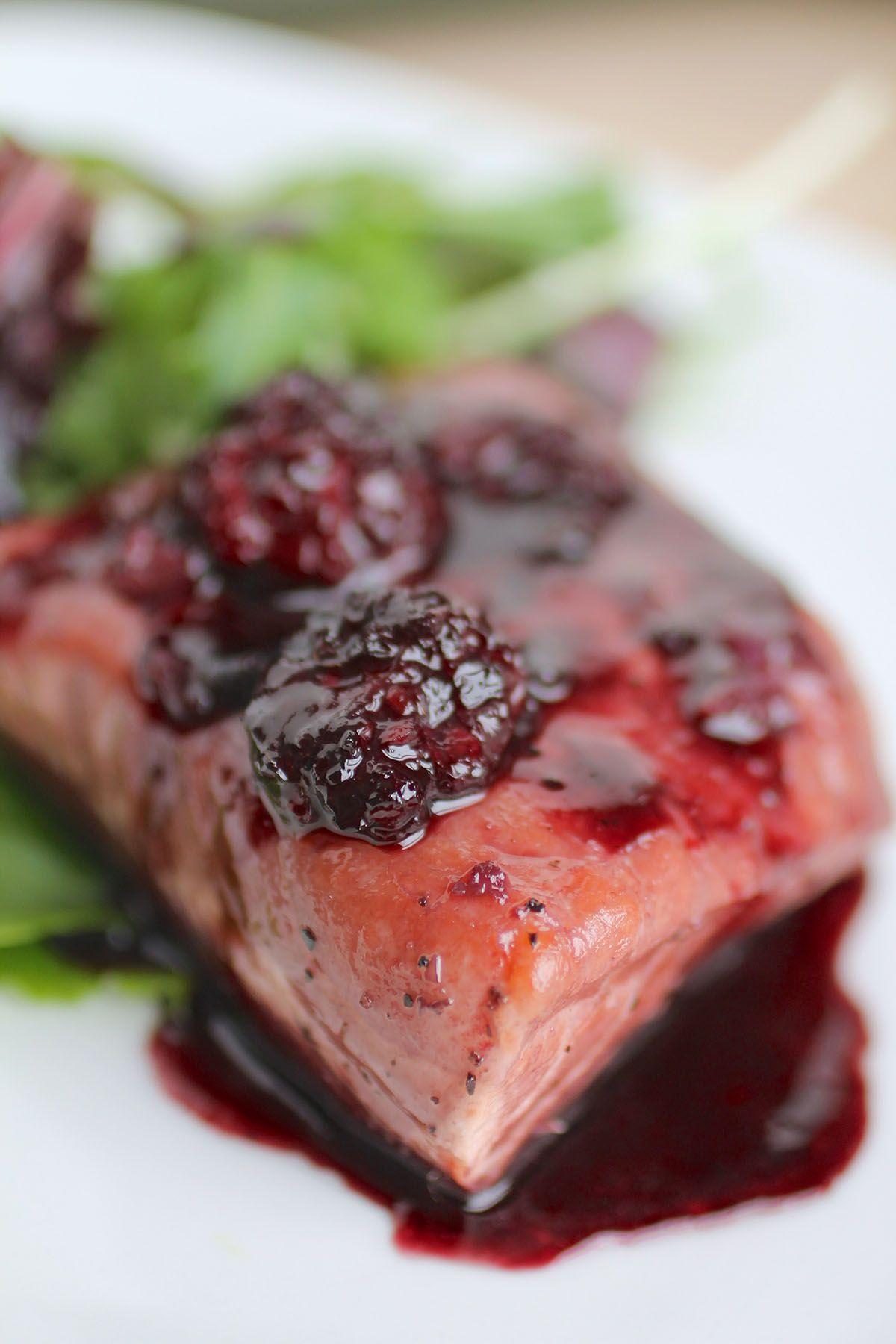 Blackberry Glazed Salmon - Life As A Strawberry