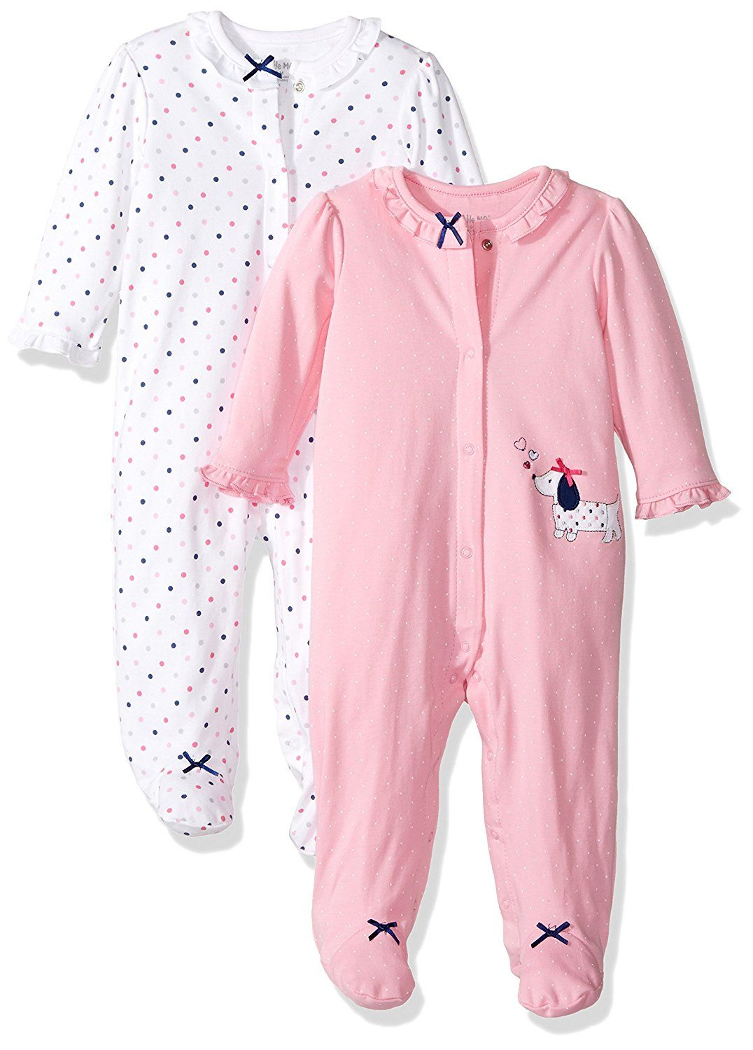 Little Me Baby 6 Pack Footies, White/Multi, Newborn  Baby clothes