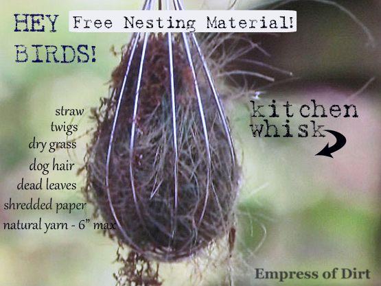 How To Offer Nesting Materials For Birds Empress Of Dirt Bird Nesting Material How To Attract Birds Birds