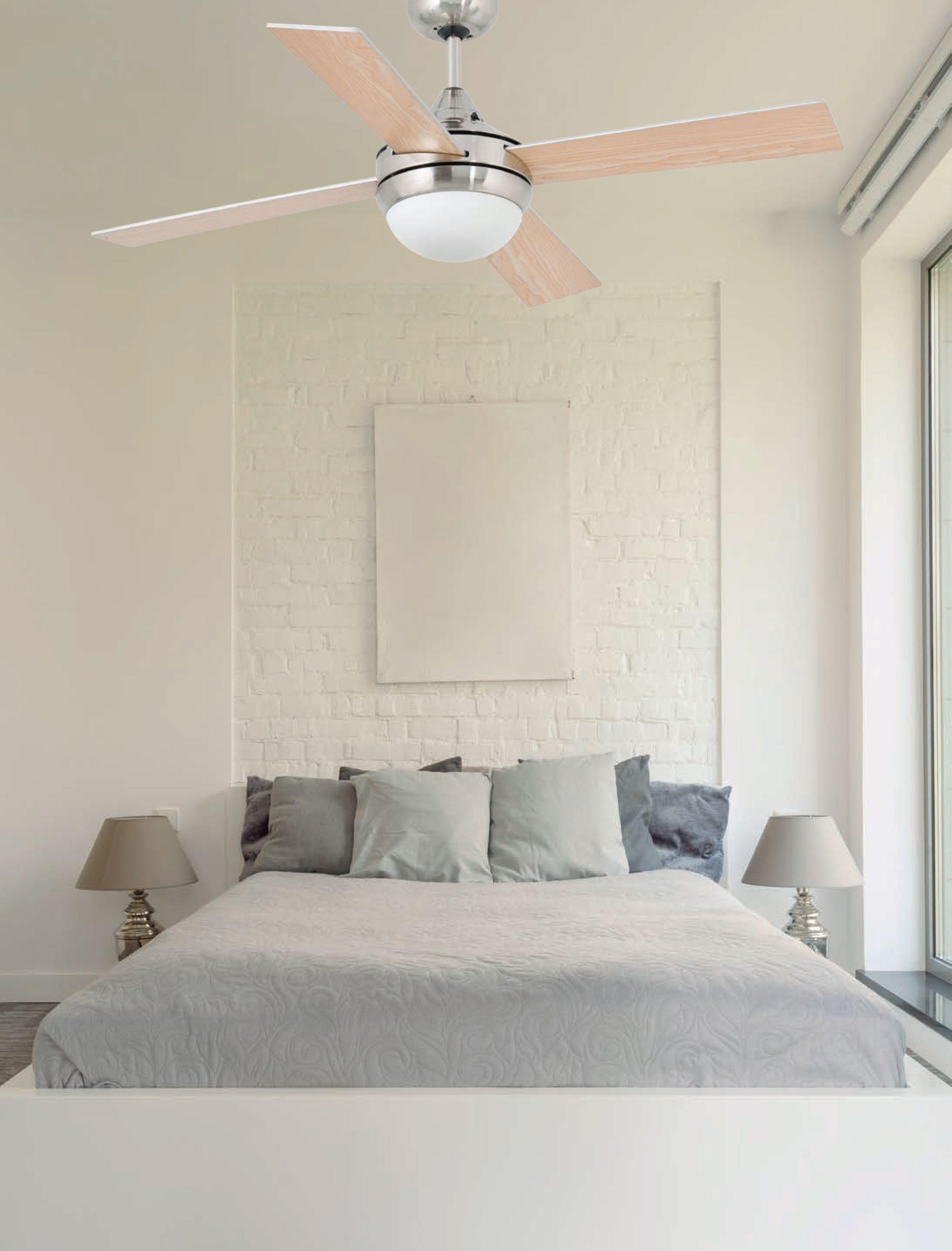 Faro Modern Bedroom Set: Ventilador De Techo Con Luz Mini Icaria 33699 Níquel Ø