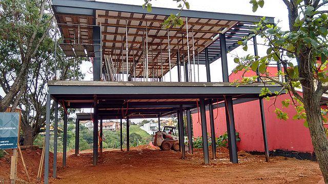 Obras resid nciais realizadas em estrutura met lica - Estructura metalicas para casas ...
