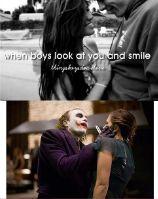 Quando os meninos olham para você e sorriem