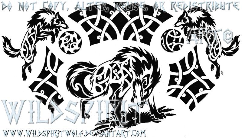 Nordic Ragnarok Tribal Wolf Tattoo By Wildspiritwolf Tribal Wolf Tattoo Tribal Wolf Wolf Tattoo