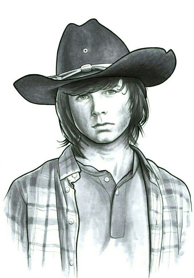 Carl Grimes The Walking Dead Walking Dead Drawings Walking