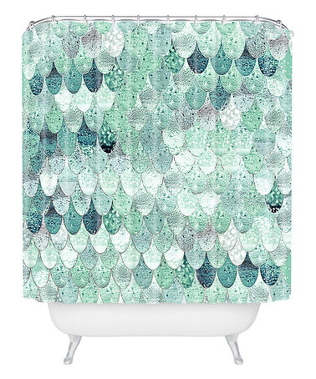 Dorm Bathroom Mint Shower Curtains Bathrooms Mermaid