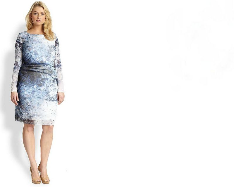Gotta Have It- This Kay Unger Plus Size Digital Print Dress #gottahaveit