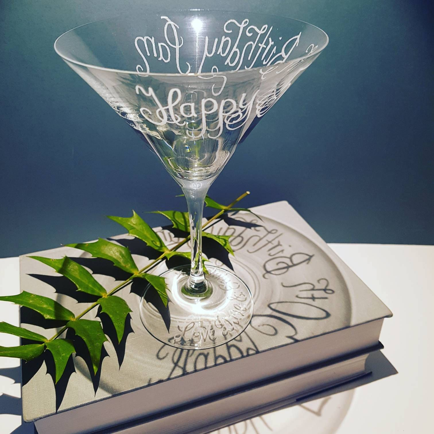 Excited To Share The Latest Addition To My #etsy Shop: Personalised Martini  Cocktail Glasses