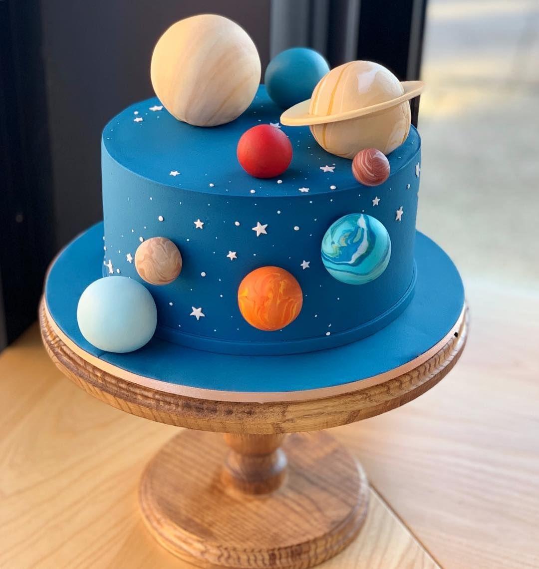 Space Planets Cake Cakeideas Solarsystemcake Handmade