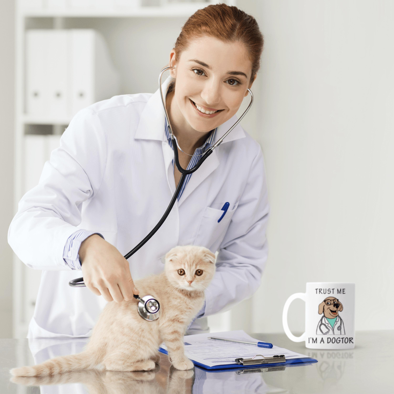 Trust Me I M A Dogtor Gift Mug In 2021 Gifts In A Mug Animal Doctor Veterinarian