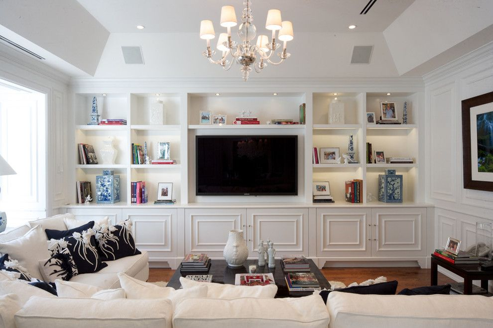 Arresting Built In Tv Wall Units Image Gallery In Family Room Traditional Design Ideas With Arresting