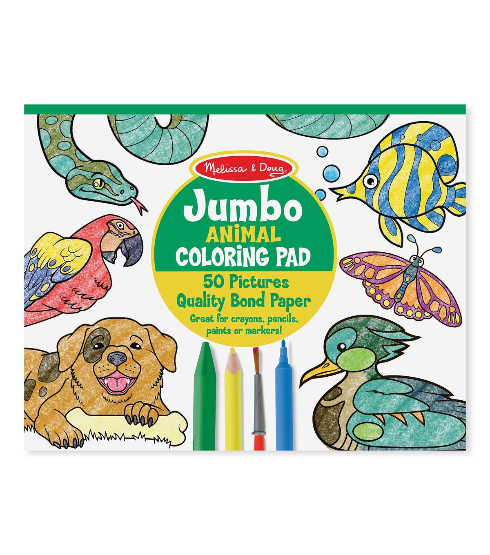 Melissa Doug Jumbo Coloring Pad Animal Joann In 2020 Coloring Books Bug Coloring Pages Animal Coloring Books