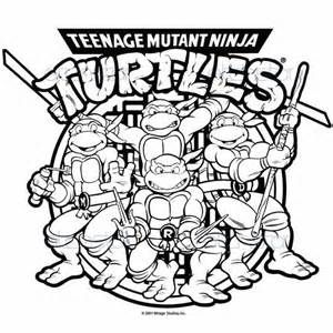 Ninja Turtles Coloring Picture