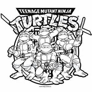Happy Birthday Teenage Mutant Ninja Turtles Coloring Page Ninja