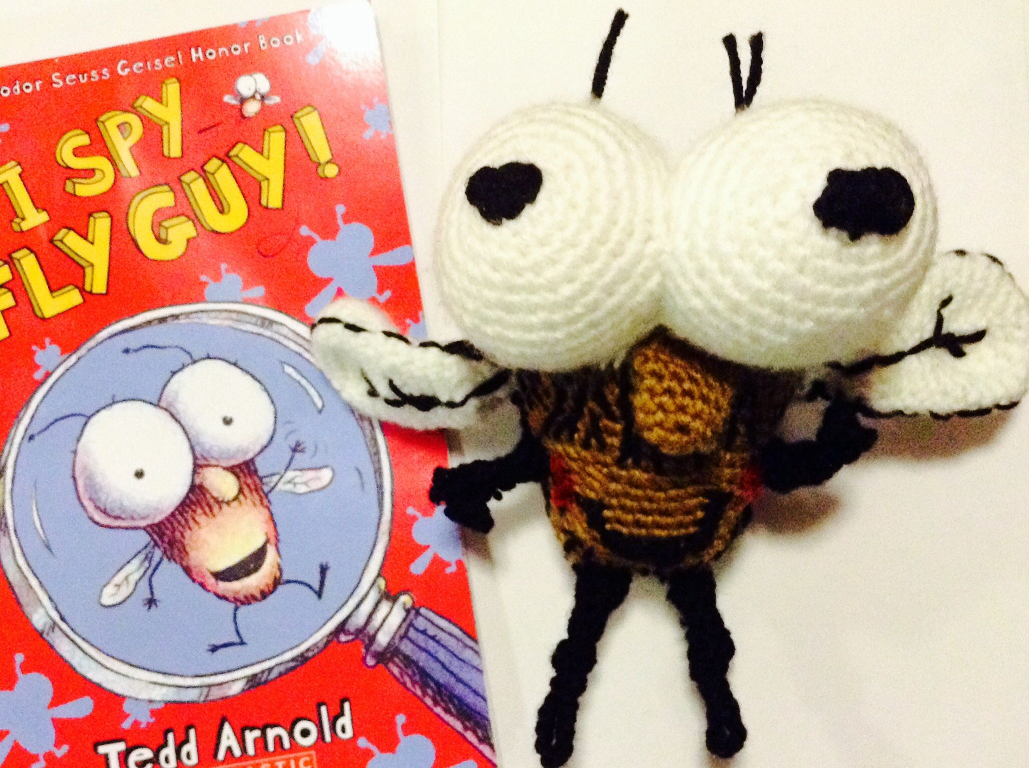 Amigurumi For Dummies Book : Fly guy amigurumi i made for son's book week dress up day. winged