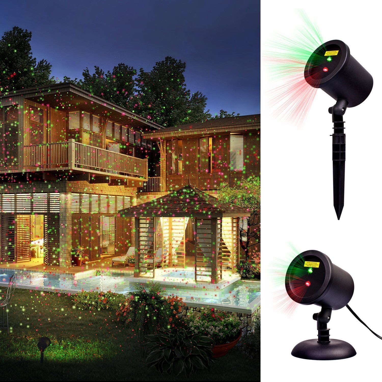 Outdoor Laser Christmas Lights Projector Red Green Iluminacao Jardim Ao Ar Livre Iluminacao
