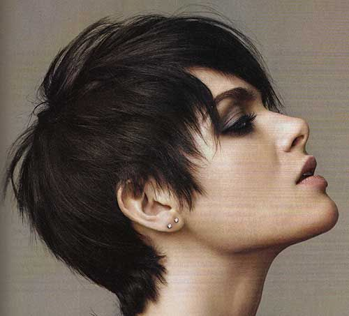 Www Short Haircut Com Wp Content Uploads 2016 08 Short Hairstyle For Straight Thick Hair Jpg Short Hair Styles Thick Hair Styles Crop Hair