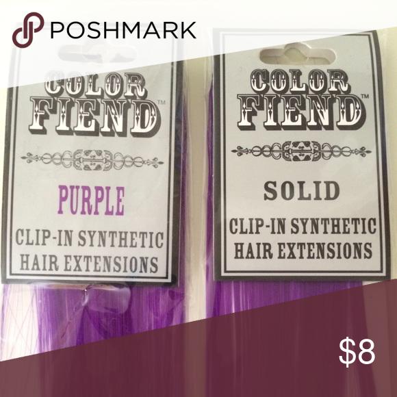 Final Drop 1 Purple Hair Extensions Packs Nwt