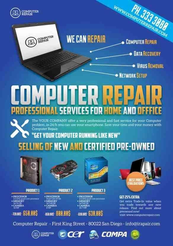 Computer And Gadget Specialist Flyer Computer Repair Computer Repair Services Laptop Repair