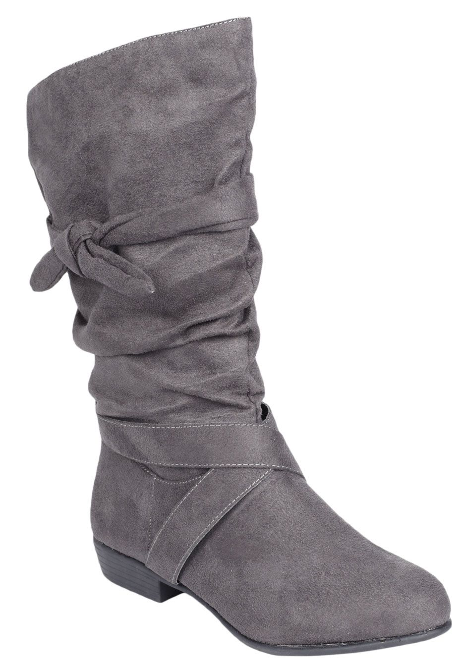 9bfa1caabb3 Plus Size Heather wide calf scrunch boot by Comfortview®