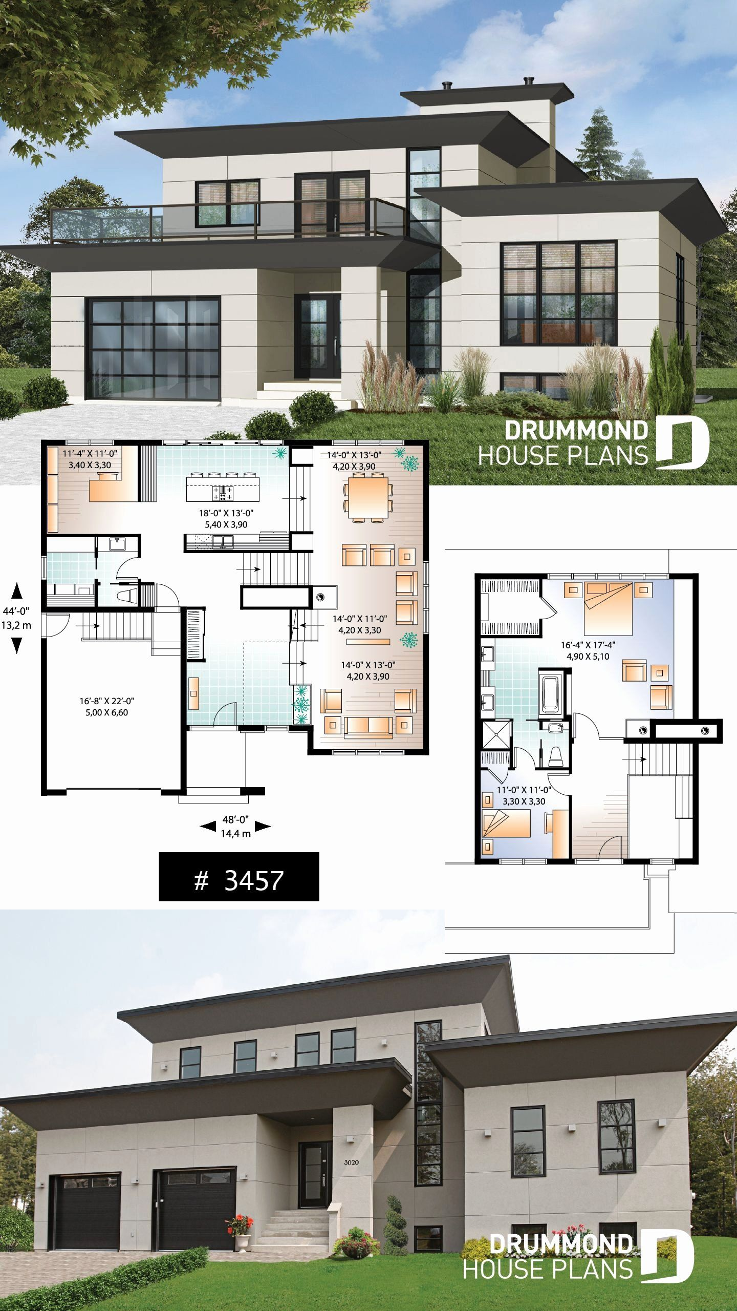 Contemporary Split Level House Plans Best Of House Plan Caldwell No 3457 Modern House Floor Plans Contemporary House Plans Modern Style House Plans