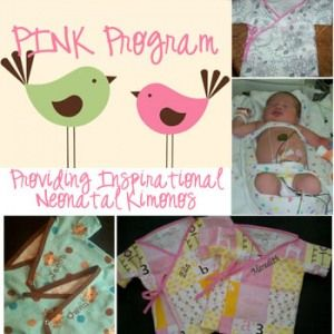 Free DIY Sewing Pattern for Preemie Kimonos for the PINK program, blogged by Goosie Girl and provided by Lil' Liza Lou. Put those sewing skills to good use and join a local PINK program or start your own for your nearest NICU unit
