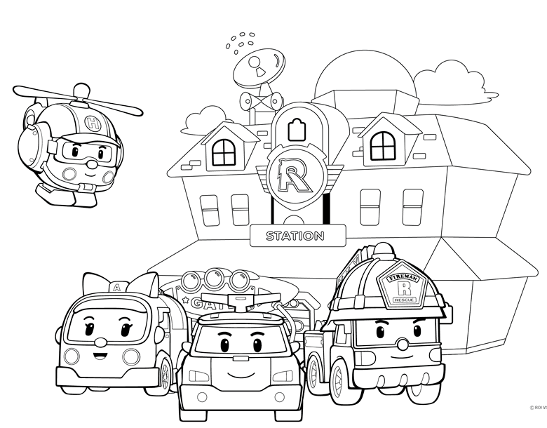 Pin By Melissa W On Brody S 2nd Bday Coloring Pages Coloring For Kids Robocar Poli