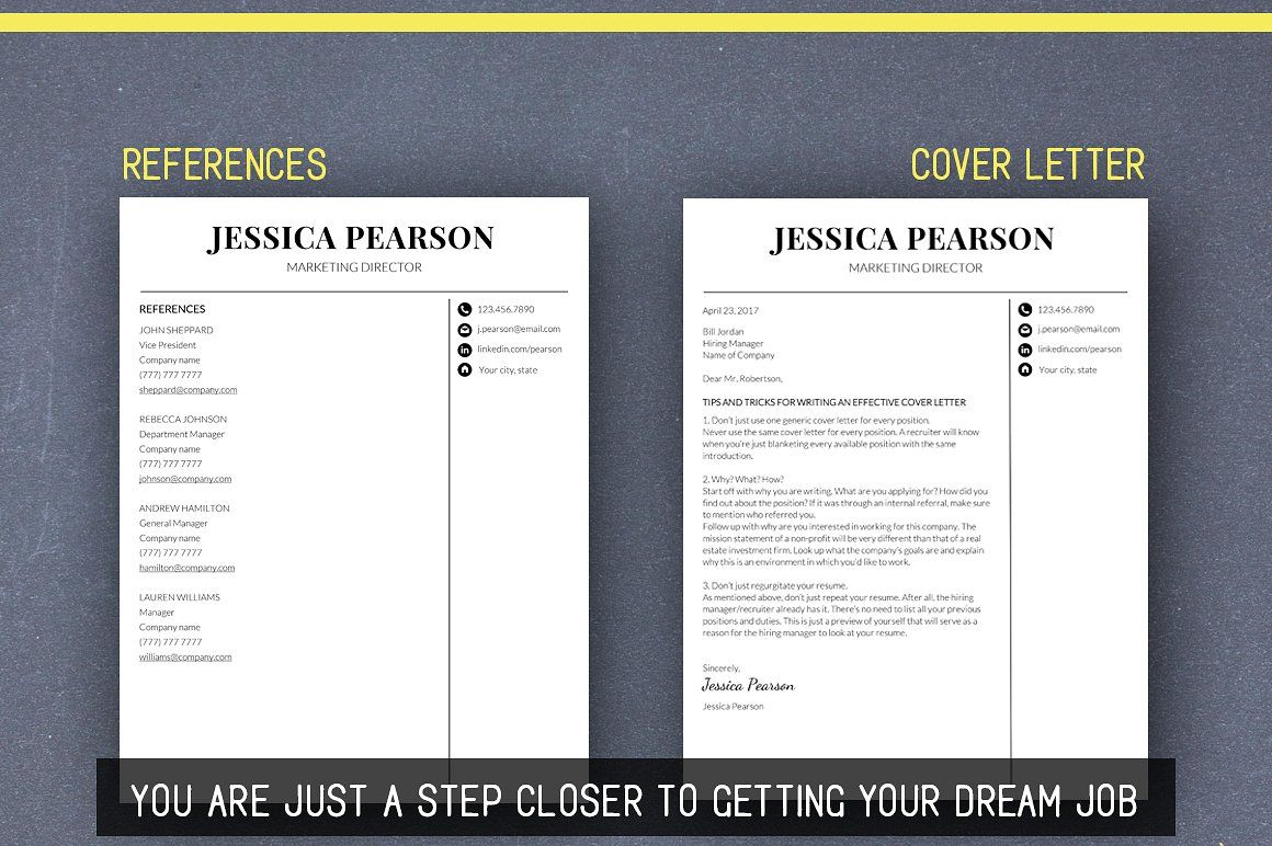 Clean resume template word mac pc arely