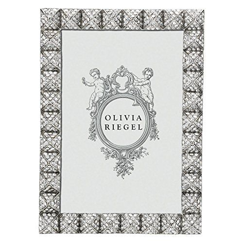 Brand New Olivia Riegel Crystal Maddox X Frame Beveled Glass Photo Size: X  Frame Size: X Cast Pewter In Silver Finish With Hundreds Of Hand Set Clear  Pavé ...