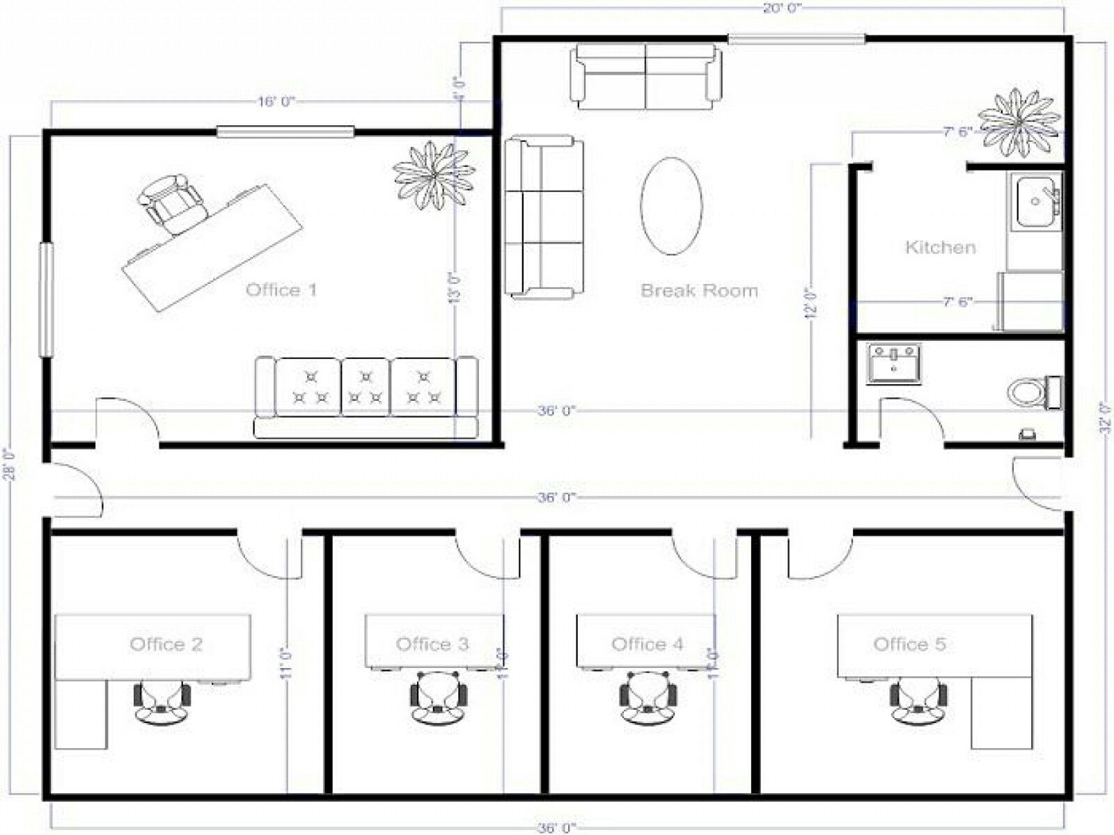 Online Office Floor Plan Maker Thefloors Co