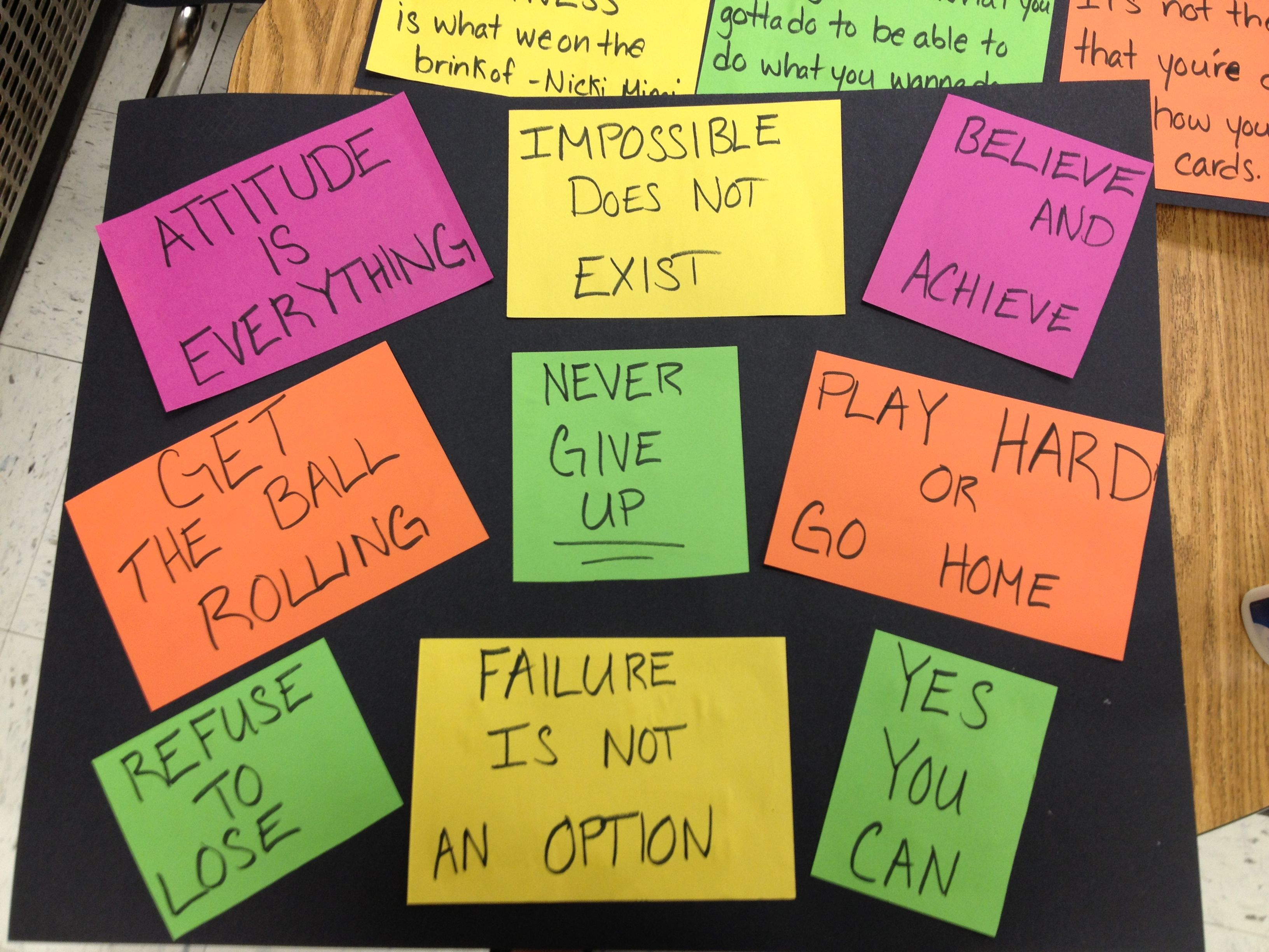 motivational slogan What we sometimes need is to take a step back and take a moment to contemplate we all need some source of inspiration, so here are 40 motivational quotes from famous people that you can share to inspire and boost your team's morale.