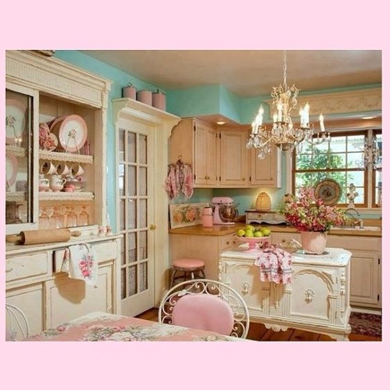 40 Cozy And Romantic Cottage Living Room 46 17 Best Images: Shabby Chic Kitchen Decor, Shabby Chic