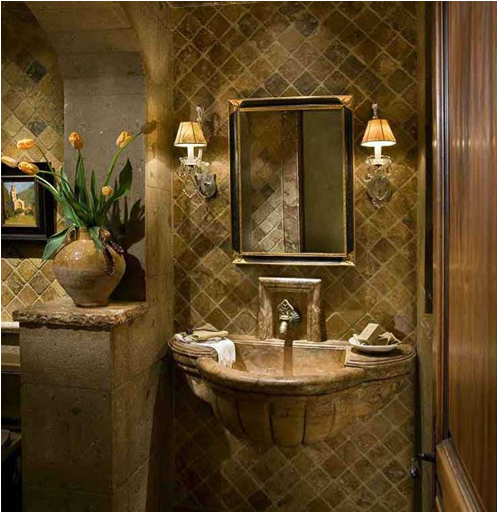 Attractive The Qualities Of A True Tuscan Bathroom Design