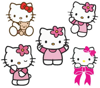 Free Hello Kitty Vectors Hello Kitty Printables Hello Kitty Crafts Hello Kitty Birthday