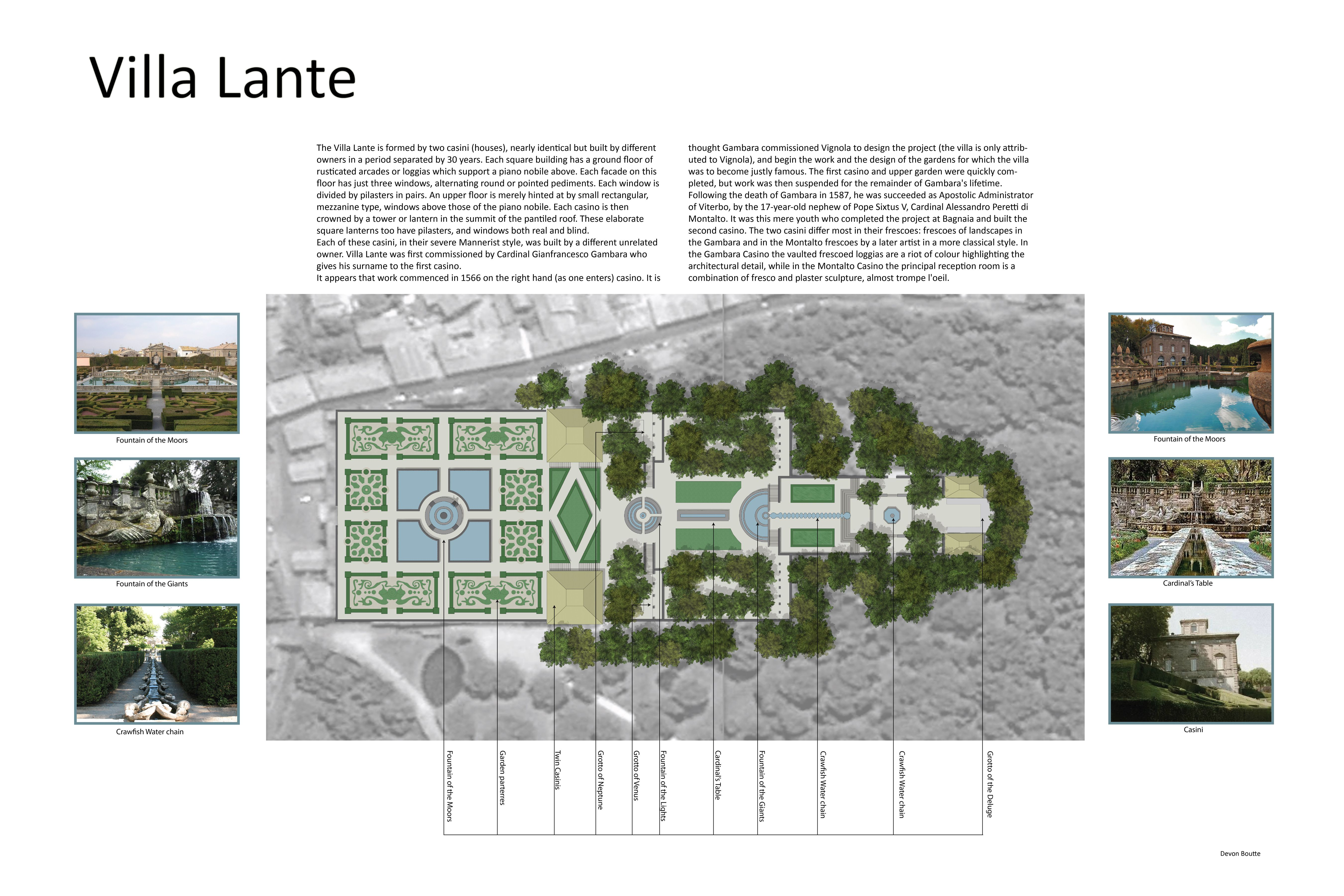 Villa lante google architecture pinterest for Villa landscape plan