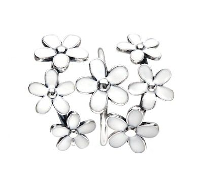Pandora White Daisy Ring Stack | www.goldcasters.com ...