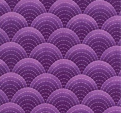 Nouvelle Melodie Fabric in Purple Tones - Nice Scale patter, but print fabric in Green for Ariel dress.