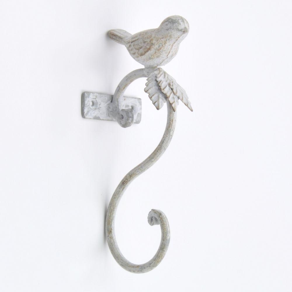 Vintage Distressed Metal Pretty Bird Coat Hook Hooks Wall Mounted ...